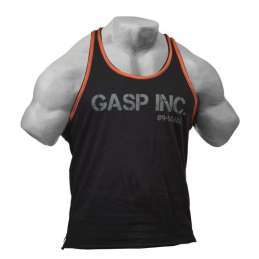 Gasp Division Jersey Tank - Black Flame