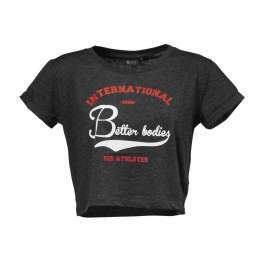 Better Bodies Cropped tee, Antracite me
