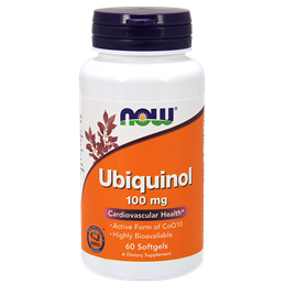 NOW Ubiquinol 100mg 60softgels