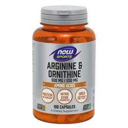 NOW Foods Arginine & Ornithine 100caps