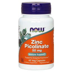 Now Foods Zinc Picolinate 50mg 60vcaps